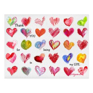 30 dank u het Briefkaart van de Harten van