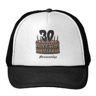 30 en over Heuvel   30ste Verjaardag   Naam DIY Mesh Petten