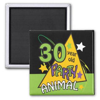 30 Feestneus | van éénjarigen 30ste Verjaardag Vierkante Magneet