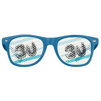 30 jaar de Gestreepte 30ste Verjaardag van Bday Festival Zonnebril