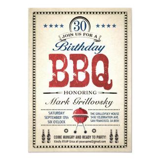30ste BBQ van de Verjaardag Uitnodigingen