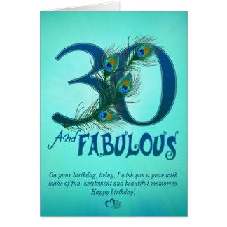 30ste de sjabloonKaarten van de Verjaardag Kaart