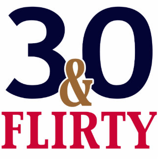 30ste Verjaardag 30 en Flirty Fotobeeldje