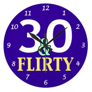 30ste Verjaardag 30 en Flirty Ronde Klok Large