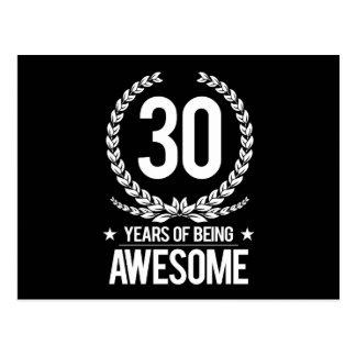 30ste Verjaardag (30 Jaar van Geweldige het Zijn) Briefkaart
