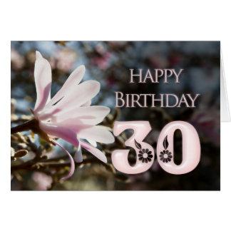 30ste Verjaardag met magnolia Kaarten