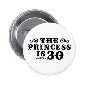 30ste Verjaardag Ronde Button 5,7 Cm