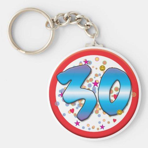 30ste Verjaardag Sleutelhangers