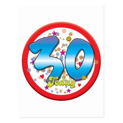 30ste Verjaardag vandaag Wens Kaarten