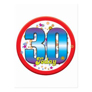 30ste Verjaardag vandaag v2 Wenskaart