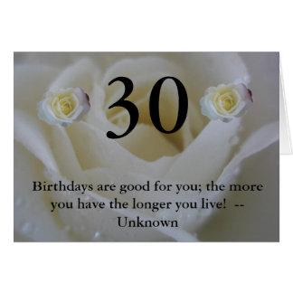 30ste Verjaardag Wenskaart