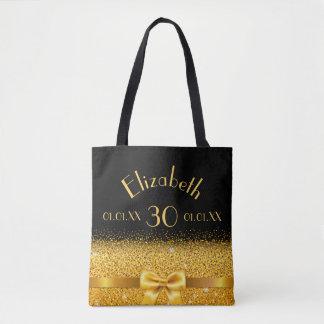 30ste verjaardags elegante gouden boog met draagtas