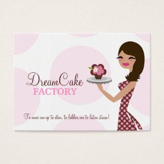 311 Carlie Cupcake Cutie Donkerbruine BusinessCard Visitekaartjes