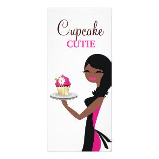 311 Daisy Cupcake Cutie Afrikaanse Amerikaan Reclamekaart
