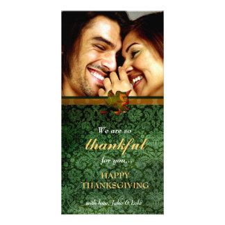 311-dankbaar de Groene Thanksgiving van het Damast Kaart