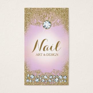 311 schittert het Vintage Goud Glam van de lila Visitekaartjes