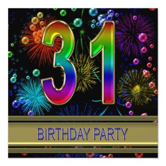 31ste de partijUitnodiging van de Verjaardag met Kaart