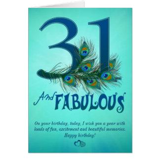 31ste de sjabloonKaarten van de Verjaardag Briefkaarten 0