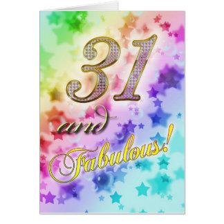 31ste verjaardag voor Fabelachtig iemand Kaart