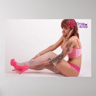 """36"""" x 24"""" de Roze Hielen van Katjes Chrissy Poster"""
