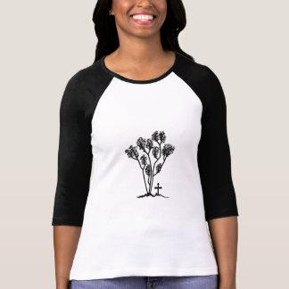 3/4 Overhemd Reglan van vrouwen - Zwart & Wit Logo T Shirt