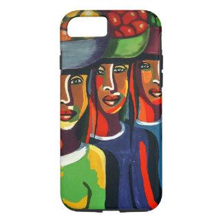 3 Afrikaanse Dames met de Manden van het Fruit iPhone 8/7 Hoesje