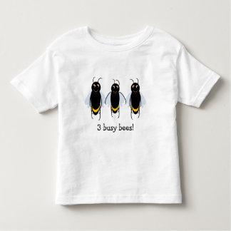 3 bezige katoenen van BuzzAboutBees van Bijen Kinder Shirts