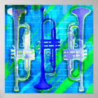 3 de Samenvatting van trompetten Poster