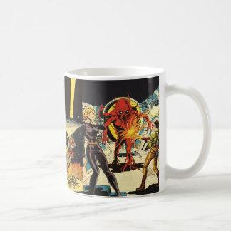 3 de verschillende Vintage Scènes van het Sci Fi Koffiemok
