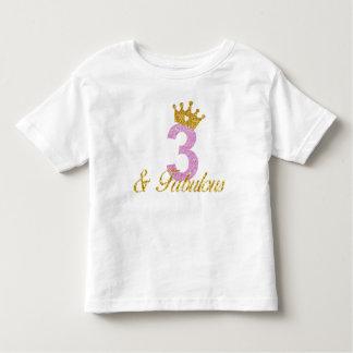 3 & het Fabelachtige Overhemd van de Verjaardag Kinder Shirts