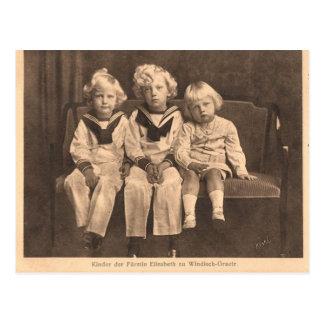 3 jongens Habsburg/windisch-Graetz #044H Briefkaart
