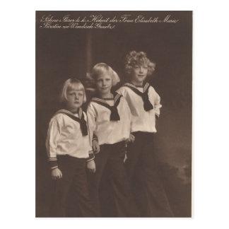 3 jongens Habsburg/windisch-Graetz #050H Briefkaart