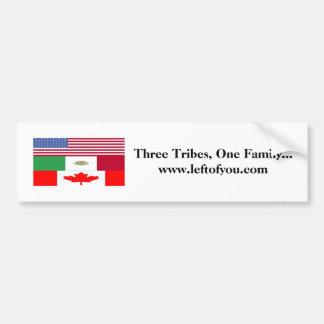 3 stammen, Drie Stammen, Één Familie… www.leftof… Bumpersticker