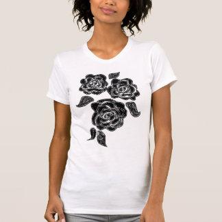 3 zwarte rozen t shirt