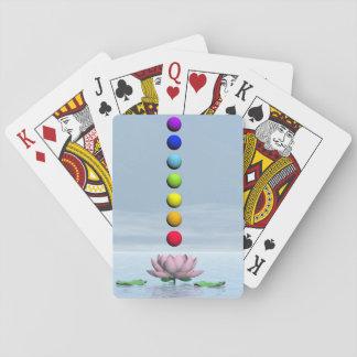 3D Chakras en regenboog - geef terug Pokerkaarten