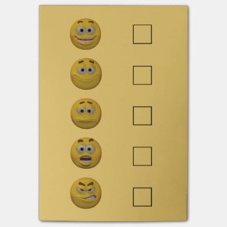 3d Controle Emoticon 2 van de Stemming van de Post-it® Notes