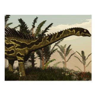 3D dinosaurus van Agustinia - geef terug Briefkaart