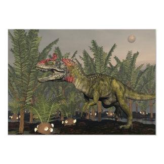 3D dinosaurus van Cryolophosaurus - geef terug 12,7x17,8 Uitnodiging Kaart