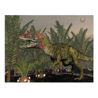 3D dinosaurus van Cryolophosaurus - geef terug Briefkaart