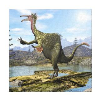 3D dinosaurus van Deinocheirus - geef terug Canvas Print