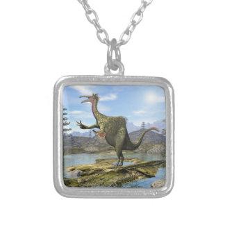3D dinosaurus van Deinocheirus - geef terug Zilver Vergulden Ketting
