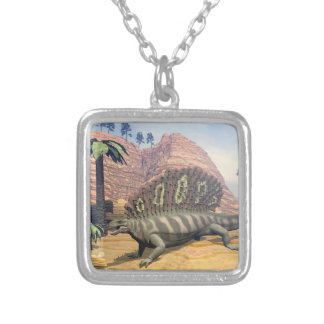 3D dinosaurus van Edaphosaurus - geef terug Zilver Vergulden Ketting