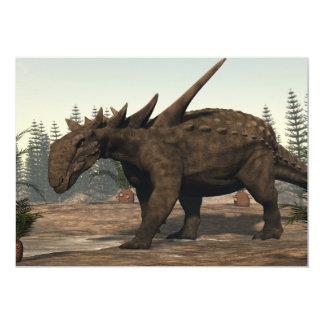 3D dinosaurus van Sauropelta - geef terug 12,7x17,8 Uitnodiging Kaart