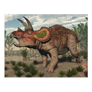 3D dinosaurus van Triceratops - geef terug Briefkaart