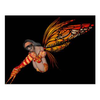 3D Elf van de oranje Vlinder van de Monarch - Fee Briefkaart