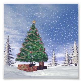 3D kerstboom - geef terug Foto Prints