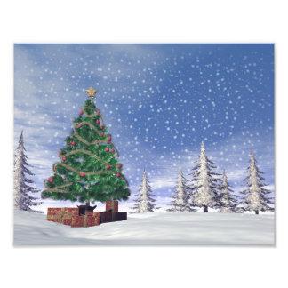 3D kerstboom - geef terug Fotoafdrukken
