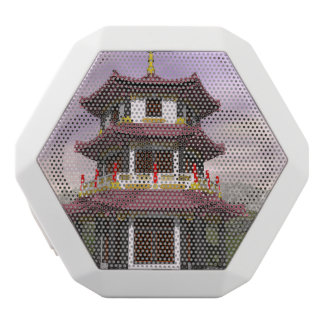 3D pagode - geef terug Witte Bluetooth Speaker
