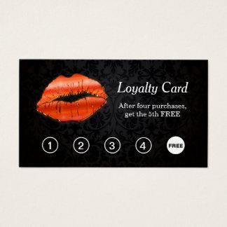 3D Rode Ponskaart van de Loyaliteit van de Salon Visitekaartjes
