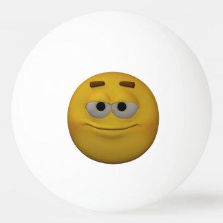 3D Stijl Arrogante Emoticon Pingpongbal